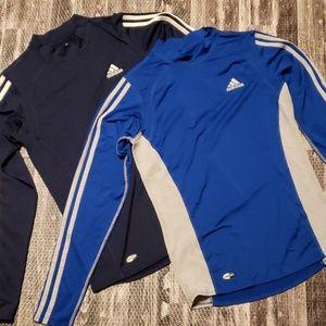 Adidas bundle size Large Climacool Mock neck Shirt